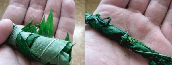 Как скручивать листья